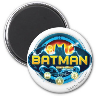 Batman Logo with Icons 2 Inch Round Magnet
