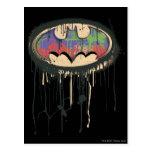Batman - logotipo torcido 1 de la inocencia tarjeta postal