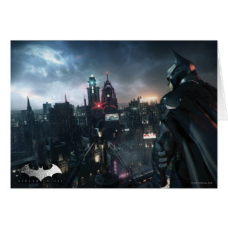 Batman Looking Over City Card