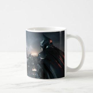 Batman Looking Over City Classic White Coffee Mug