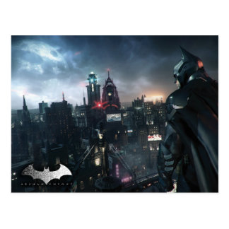 Batman Looking Over City Postcard