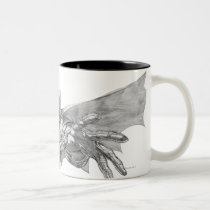 batman, lunging, forward, drawing, Mug with custom graphic design