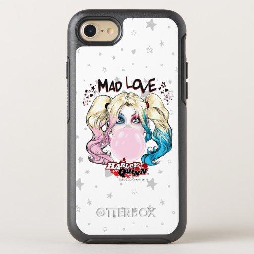 Batman | Mad Love Harley Quinn Chewing Bubble Gum OtterBox Symmetry iPhone SE/8/7 Case