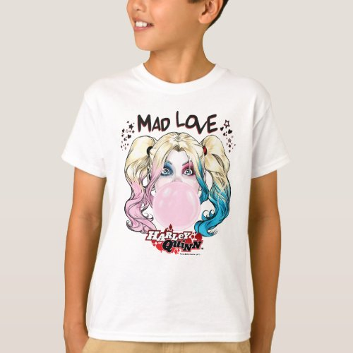 Batman  Mad Love Harley Quinn Chewing Bubble Gum T_Shirt
