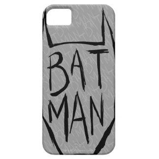 Batman mecanografía adentro la cabeza iPhone 5 carcasas