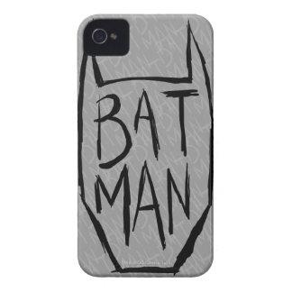 Batman mecanografía adentro la cabeza Case-Mate iPhone 4 coberturas