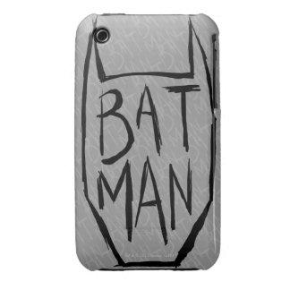 Batman mecanografía adentro la cabeza Case-Mate iPhone 3 protector