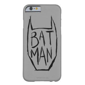 Batman mecanografía adentro la cabeza funda de iPhone 6 barely there