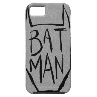 Batman mecanografía adentro la cabeza funda para iPhone SE/5/5s