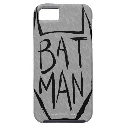 Batman mecanografía adentro la cabeza iPhone 5 carcasa