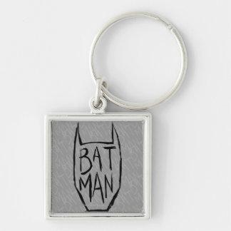 Batman mecanografía adentro la cabeza llavero personalizado