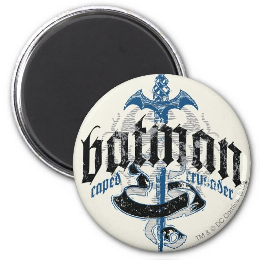 Batman Name with Sword 2 Inch Round Magnet
