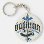 Batman Name with Sword Basic Round Button Keychain