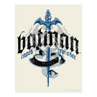 Batman Name with Sword Postcard