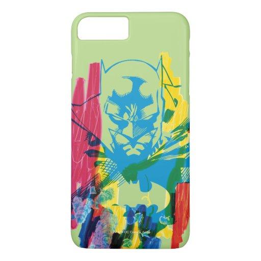 Batman Neon Marker Collage iPhone 8 Plus/7 Plus Case