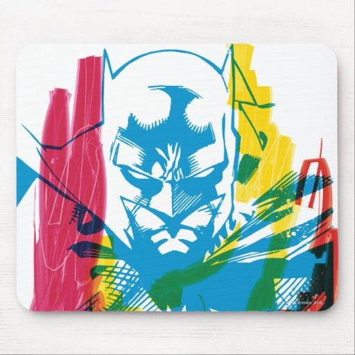 Batman Neon Marker Collage Mouse Pad