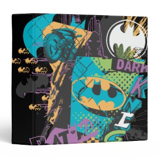Batman Neon The Dark Knight Collage Binders