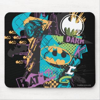 Batman Neon The Dark Knight Collage Mouse Pad