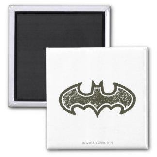 Batman Nouveau Logo 2 2 Inch Square Magnet