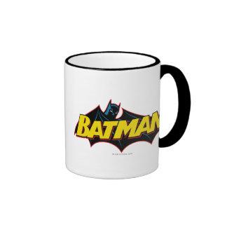Batman Old School Logo Ringer Coffee Mug
