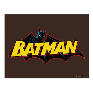 Batman   Old School Logo Postcard
