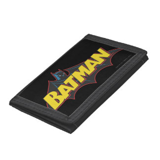 Batman   Old School Logo Trifold Wallet