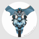 Batman on bike with cape sticker