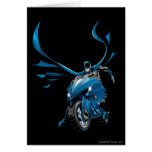 Batman on cycle greeting cards