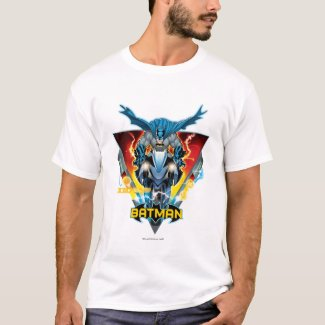 Batman on cycle with logo T-Shirt