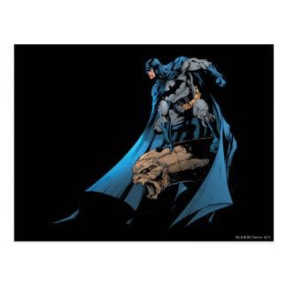 Batman on gargoyle postcard