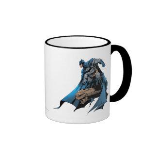 Batman on gargoyle ringer coffee mug
