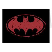 Batman | Oozing Red Bat Logo