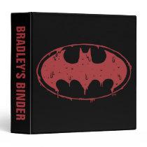 Batman | Oozing Red Bat Logo 3 Ring Binder
