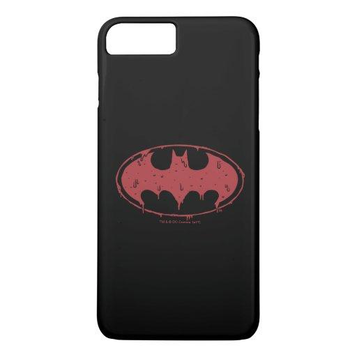 Batman | Oozing Red Bat Logo iPhone 8 Plus/7 Plus Case
