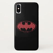 Batman | Oozing Red Bat Logo iPhone X Case