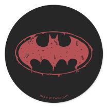 Batman | Oozing Red Bat Logo Classic Round Sticker