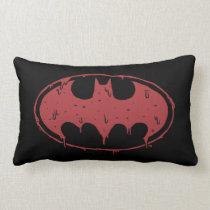 Batman | Oozing Red Bat Logo Lumbar Pillow