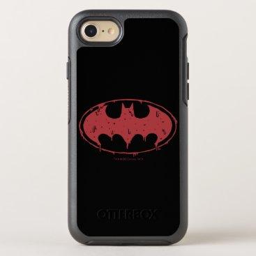 Batman | Oozing Red Bat Logo OtterBox Symmetry iPhone 8/7 Case