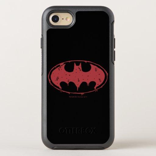 Batman | Oozing Red Bat Logo OtterBox Symmetry iPhone SE/8/7 Case