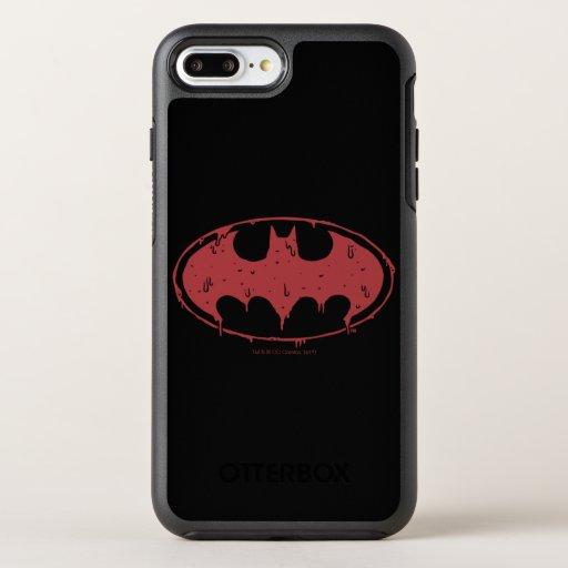 Batman | Oozing Red Bat Logo OtterBox Symmetry iPhone 8 Plus/7 Plus Case