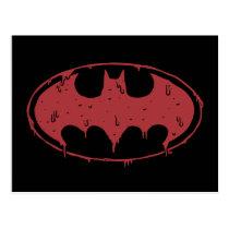 Batman | Oozing Red Bat Logo Postcard