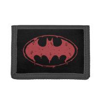 Batman | Oozing Red Bat Logo Trifold Wallet