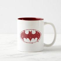 Batman | Oozing Red Bat Logo Two-Tone Coffee Mug