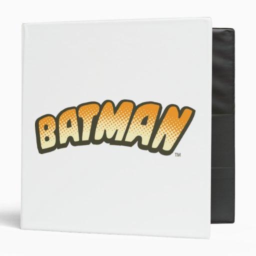Batman Orange Halftone Logo 3 Ring Binders