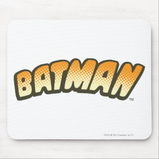 Batman | Orange Halftone Logo Mouse Pad