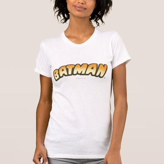 Batman   Orange Halftone Logo T-Shirt