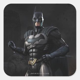 Batman Pegatina Cuadrada