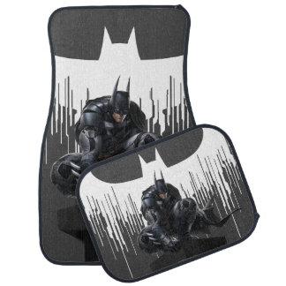 Batman Perched on a Pillar Car Floor Mat