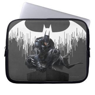Batman Perched on a Pillar Laptop Sleeve