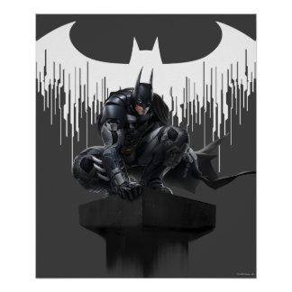 Batman Perched on a Pillar Poster